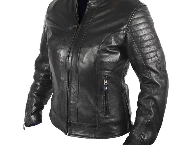 Blouson Cuir Moto Femme Overlap Stella Noir
