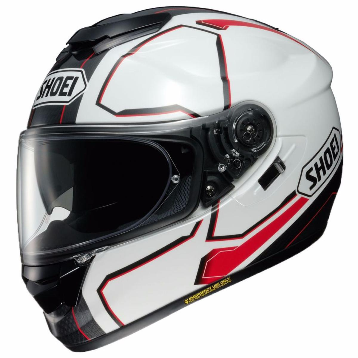 Casque Moto Integral Shoei Gt Air Pendulum Blanc Rouge Noir