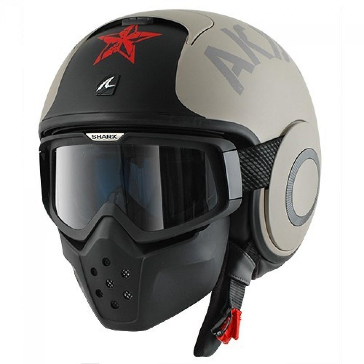 Casque Moto Modulable Shark Drak Soyouz Sable Mat