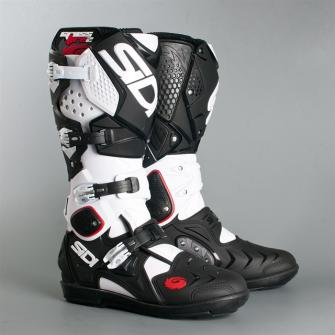 bottes off road bottes cross botte cross sidi crossfire 2 srs noir blanc. Black Bedroom Furniture Sets. Home Design Ideas