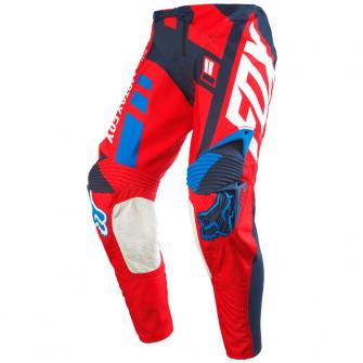 vetements cross enduro pantalons hommes pantalon cross fox 360 divizion rouge bleu. Black Bedroom Furniture Sets. Home Design Ideas