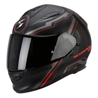 CASQUE MOTO INTEGRAL SCORPION EXO 510 AIR SYNC - NOIR MAT / ROUGE