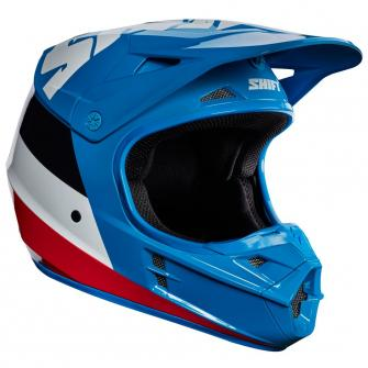 CASQUE MOTO CROSS SHIFT WHIT3 TARMAC 2017 - BLEU