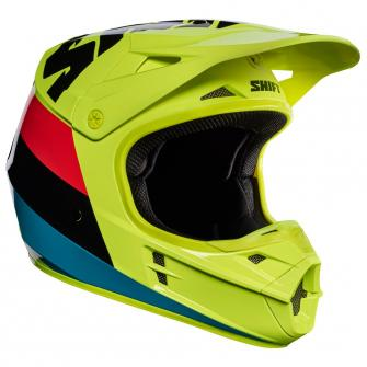 CASQUE MOTO CROSS SHIFT WHIT3 TARMAC 2017 - JAUNE FLUO