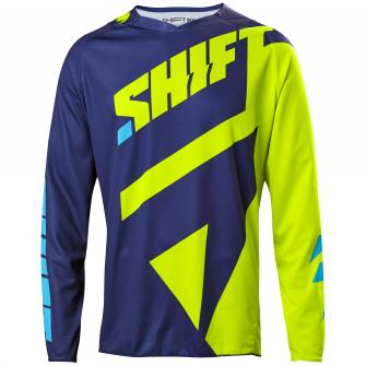 MAILLOT MOTO CROSS SHIFT 3LACK MAINLINE 2017 - JAUNE FLUO
