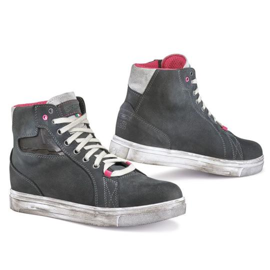 CHAUSSURES MOTO TCX BOOTS STREET ACE LADY DARK GREY WATERPROOF