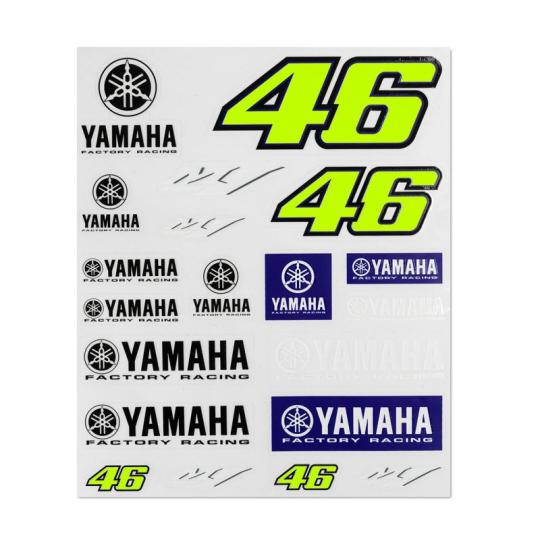 PLANCHE STICKERS VR46 YAMAHA DUAL RACING