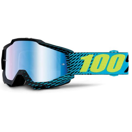 MASQUE MOTO CROSS ENDURO 100% ACCURI R-CORE ECRAN IRIDIUM BLUE 2018