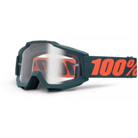 MASQUE CROSS ENDURO 100% ACCURI GUN METAL ECRAN CLAIR 2018