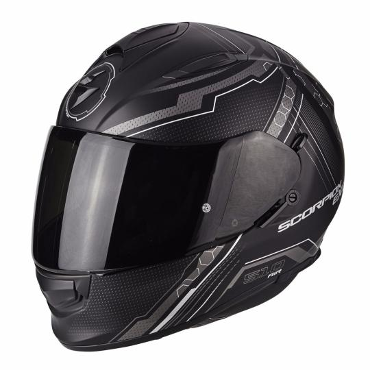 CASQUE MOTO INTEGRAL SCORPION EXO 510 AIR SYNC - NOIR MAT / GRIS