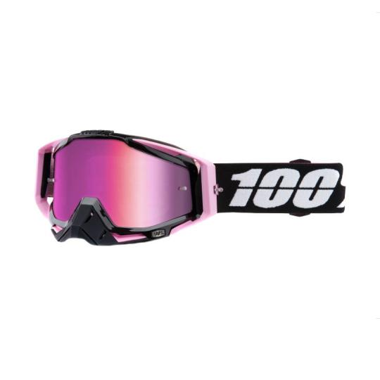 MASQUE MOTO CROSS 100% RACECRAFT - FLOYD - ECRAN IRIDIUM ROSE 2018