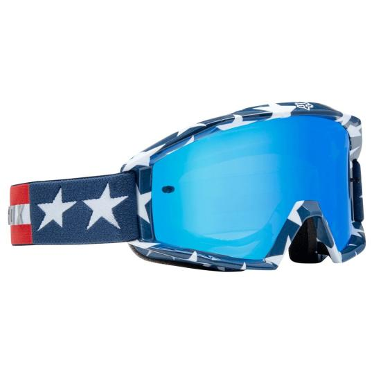 MASQUE MOTO CROSS FOX MAIN - STRIPE - WHITE RED BLUE 2019