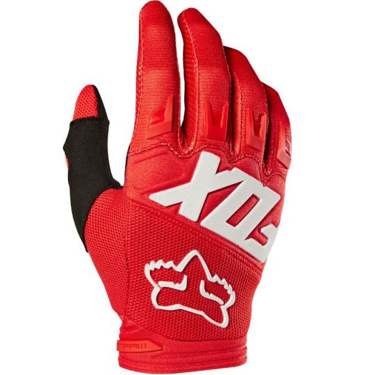 GANTS MOTO CROSS FOX DIRTPAW - RACE - RED 2020