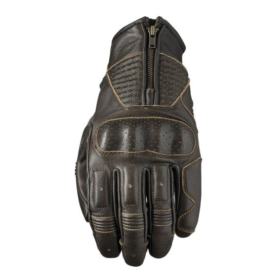 GANTS MOTO ETE FIVE KANSAS MARRON