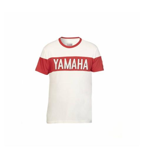 T-Shirt YAMAHA Faster Sons 2019 Lubbock - BLANC / ROUGE