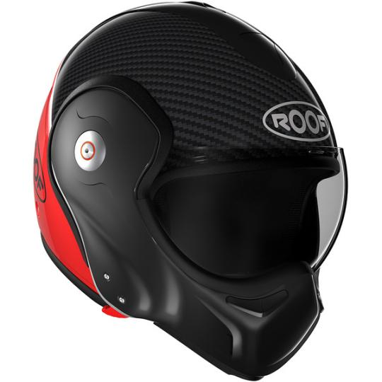 CASQUE MOTO CONVERTIBLE  ROOF BOXXER RO9 CARBON - NOIR / ROUGE