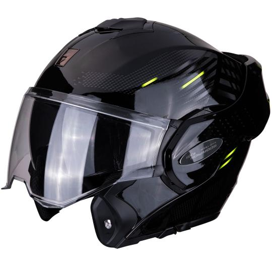 CASQUE MOTO CONVERTIBLE SCORPION EXO TECH - PULSE - NOIR / JAUNE