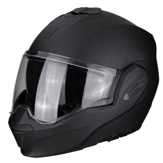 CASQUE MOTO CONVERTIBLE SCORPION EXO TECH SOLID - NOIR MAT