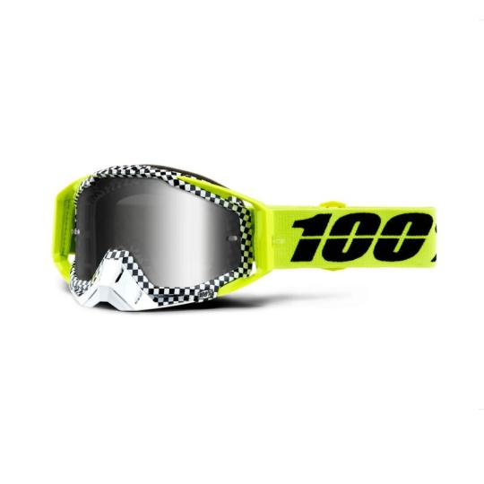 MASQUE MOTO CROSS 100% RACECRAFT ANDRE - JAUNE / NOIR