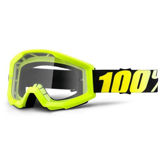 MASQUE MOTO CROSS YOUTH 100% NEON YELLOW