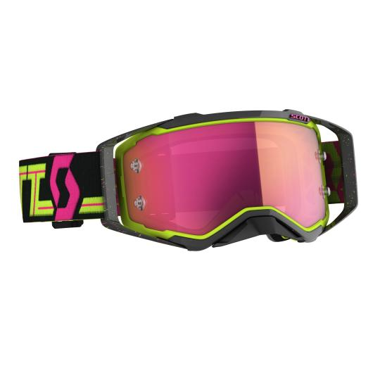 MASQUE MOTO CROSS SCOTT PROSPECT NOIR/JAUNE/ROSE ECRAN IRIDIUM - 2019