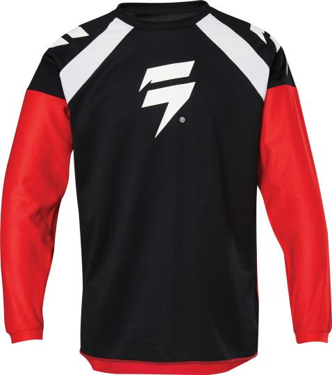 MAILLOT MOTO CROSS SHIFT WHIT3 LABEL RACE 1 - BLACK RED 2020