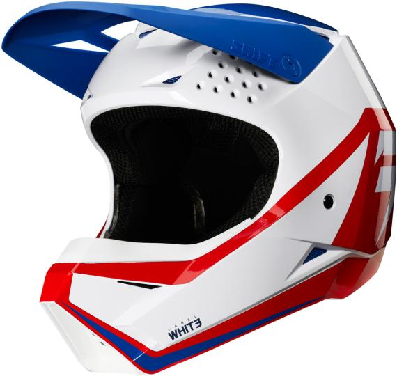CASQUE MOTO CROSS ENFANT SHIFT WHIT3 GRAPHIC - BLEU BLANC ROUGE 2020