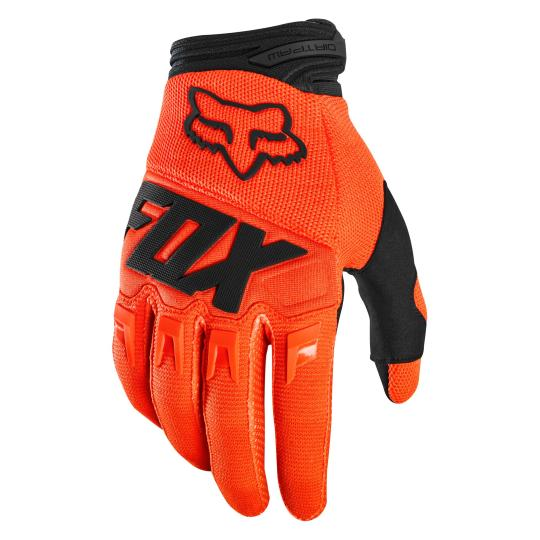 GANTS MOTO CROSS FOX DIRTPAW - RACE - ORANGE FLUO 2020