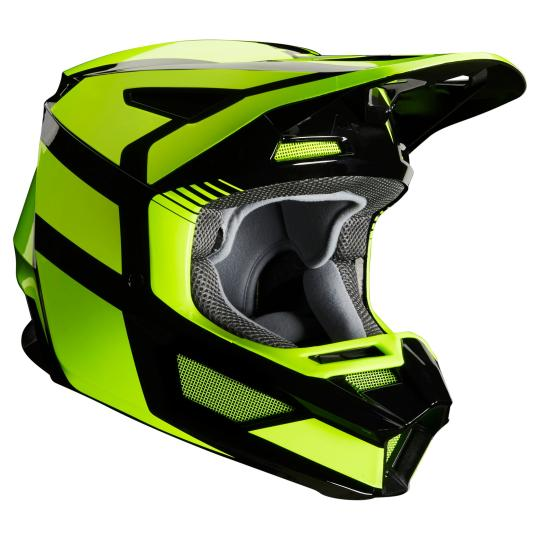 CASQUE MOTO CROSS FOX V2 - HAYL - YELLOW FLUO 2020