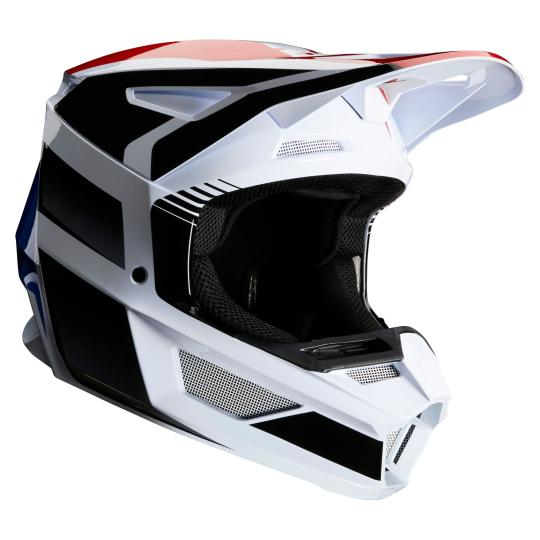 CASQUE MOTO CROSS FOX V2 - HAYL - BLUE RED 2020