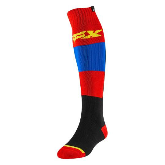 CHAUSSETTES MOTO CROSS FOX FRI THIN - LINC - BLUE RED