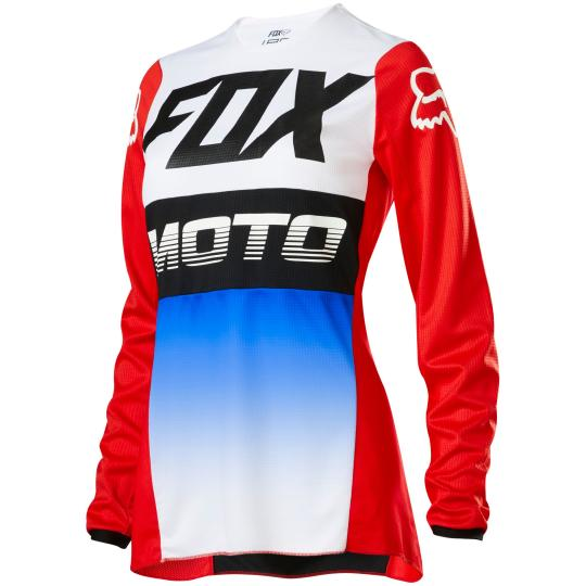 MAILLOT MOTO CROSS FOX WOMEN 180 - FYCE - BLUE RED 2020