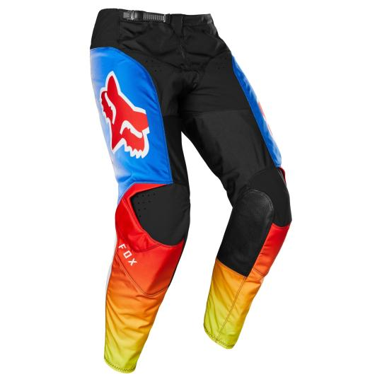 PANTALON MOTO CROSS FOX 180 - FYCE - BLUE RED 2020