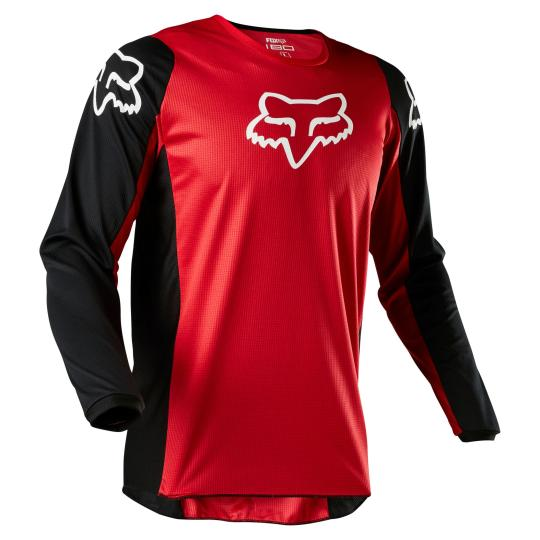 MAILLOT MOTO CROSS FOX 180 - PRIX - FLAME RED 2020