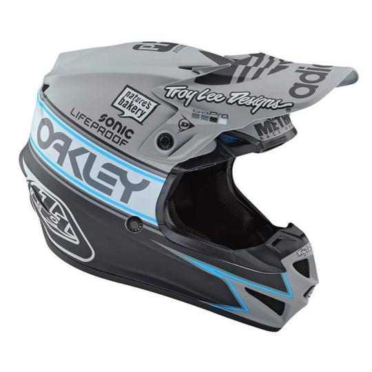 CASQUE MOTO CROSS TROY LEE DESIGN SE4 POLYACRYLITE - TEAM EDITION 2 - GRAY 2020