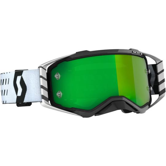 MASQUE MOTO CROSS SCOTT PROSPECT BLANC / NOIR ECRAN IRIDIUM - 2020