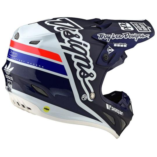 CASQUE MOTO CROSS TROY LEE DESIGN SE4 CARBON - SILLOUETTE - BLUE WHITE 2020