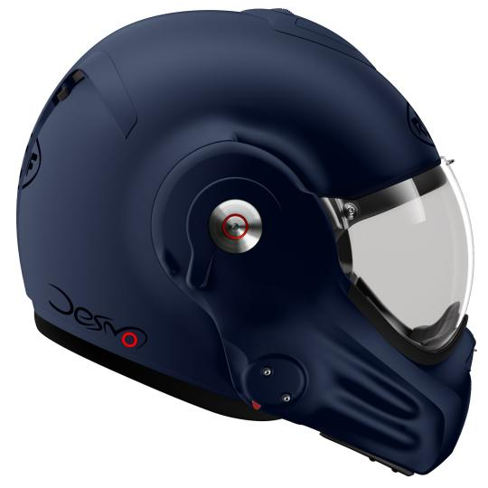 CASQUE MOTO CONVERTIBLE ROOF RO32 DESMO UNI - MAT DARK BLUE