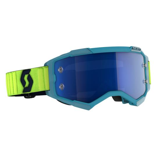 MASQUE MOTO CROSS SCOTT FURY - BLEU TEAL / JAUNE