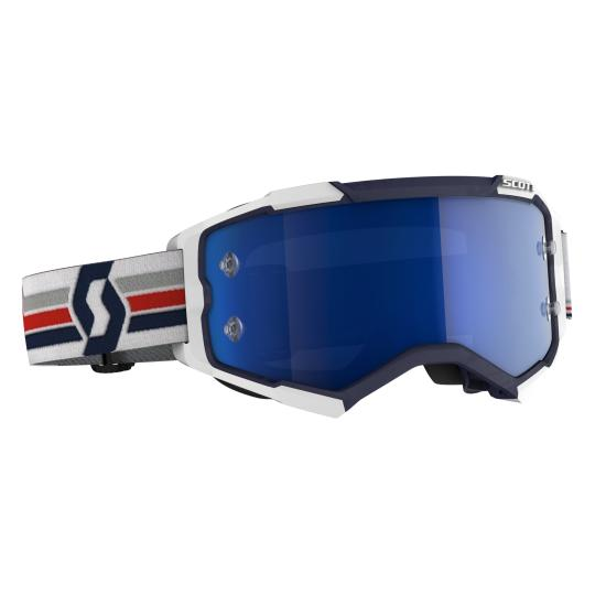 MASQUE MOTO CROSS SCOTT FURY - BLEU / BLANC