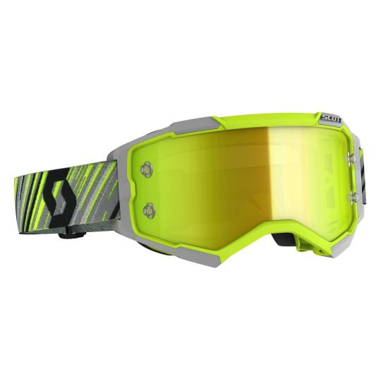 MASQUE MOTO CROSS SCOTT FURY - JAUNE / GRIS