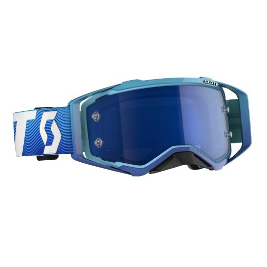 MASQUE MOTO CROSS SCOTT PROSPECT BLEU / BLANC ECRAN IRIDIUM - 2020