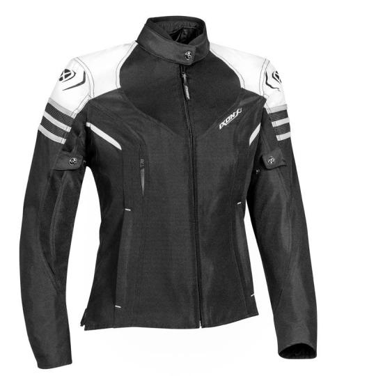 BLOUSON MOTO IXON LADY ILANA - BLACK / WHITE / GREY