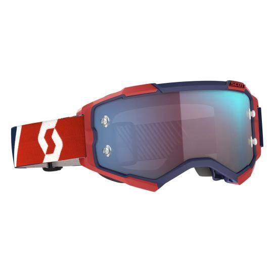 MASQUE MOTO CROSS SCOTT FURY - RED/BLUE/BLUE CHROME WORKS