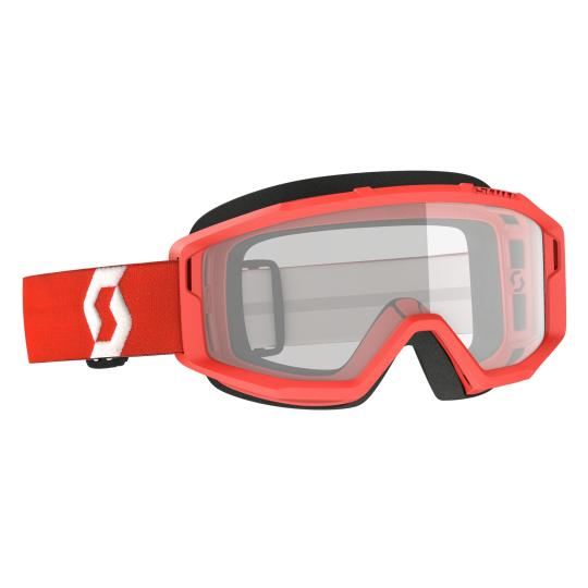 MASQUE MOTO CROSS SCOTT PRIMAL CLEAR - RED