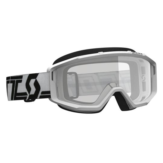 MASQUE MOTO CROSS SCOTT PRIMAL CLEAR - WHITE/BLACK
