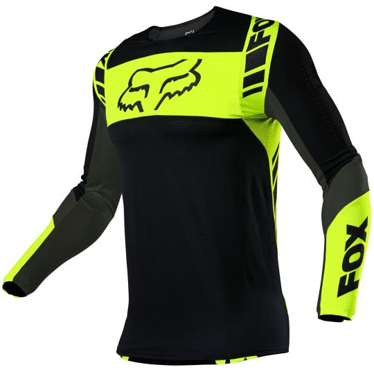 MAILLOT MOTO CROSS FOX FLEXAIR - MACH ONE - BLACK YELLOW 2021