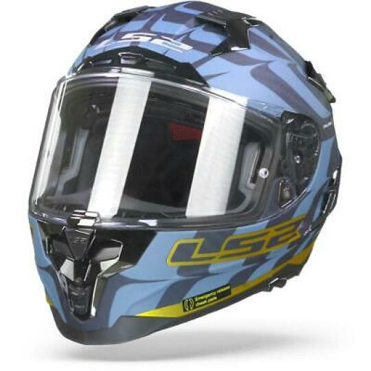 CASQUE MOTO LS2 CHALLENGER CT2 FLAMES BL CARBON GOLD S