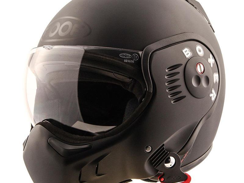 casque moto modulable roof boxer v8 full black. Black Bedroom Furniture Sets. Home Design Ideas