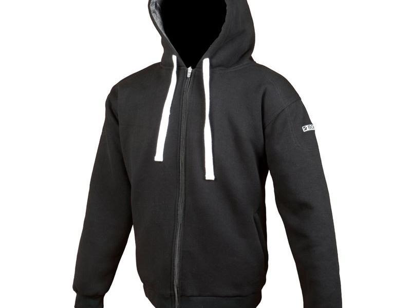 sweat moto booster hoodie kevlar noir. Black Bedroom Furniture Sets. Home Design Ideas